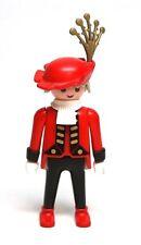 Playmobil Figure Custom Princess Castle Servant w/ Grey Hair Red Hat 3021