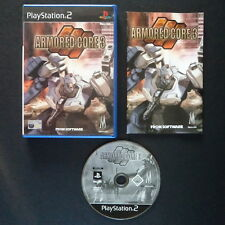 ARMORED CORE 3 PlayStation 2 UK PAL English・♔・SHOOTER FROM SOFTWARE complete PS2