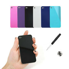 6 x GENUINE Glass Replacement Back Cover Battery Panel for iPhone 4 +FREE GIFT