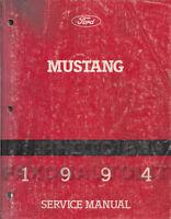 1994 Ford Mustang Original Shop Manual 94 Repair Service Book OEM GT and Cobra