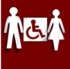 Pack of Ladies, Gents and Disable Toilet Sign Acrylic Mirror Office School Hotel