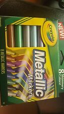 Crayola Metallic Markers 8 pack Brand New For Classroom