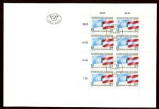 Austria 1990 Peace Keeping Forces, Flags Sheet FDC #S609