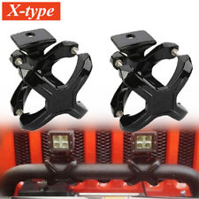 2x SUV Off-road Car Front Bumper LED Light Strip Bracket Bar Mounting Clamp Clip