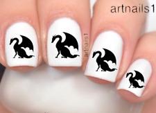 Dragon Medieval Nail Art Water Decals Stickers Manicure Salon Polish Gift Mani