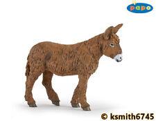 Papo POITOU DONKEY solid plastic toy farm pet brown animal  * NEW 💥