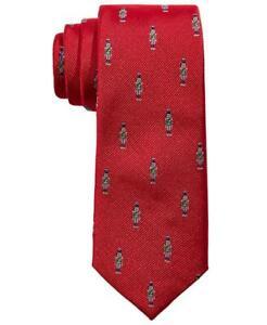 Lauren Ralph Lauren Big Boys Red Holiday Classic Nutcracker 100% Silk Tie