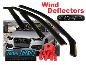4 Piezas Para Audi Q5 2008-2017 Cromado viento desviadores conjunto