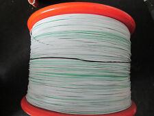 EIS Wire  22 awg TC Tin Copper White / Green Stripe  19/34 str 10,000ft.