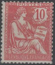 """FRANCE STAMP TIMBRE  N° 124 """" TYPE MOUCHON RETOUCHE 10c ROSE 1902 """" NEUF xx TB !"""