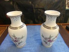 2 Chinese Republic Period Porcelain Vase w/ Bird Scene & Mark