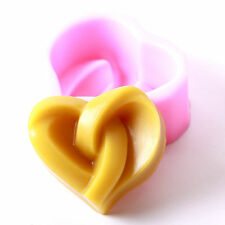 Knotted Heart Silicone Soap Mould R0073 FREE P&P