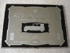 Genuine originale 1920s Vintage ROLLS-ROYCE la migliore auto nel mondo ADV Specchio