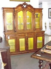 Grand antique sideboard buffet breakfront display lighted case
