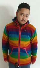 Wolljacke * Hippie Goa Nepal Kapuze * Strickjacke  Gr. S - XXL