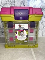 Creative Options Grab-N'-Go Medium Storage Case Rack System Container Pink Green
