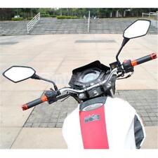 Universal Black Motorcycle Motorbike Rearview Rear View Side Mirror 10mm
