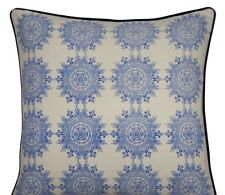 Hamptons Style Stunning Sina Blue Square cushion cover 60x60cm RRP $ 68.95