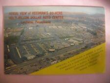 Car dealership Reedman's Langhorne Pa auto dealer postcard