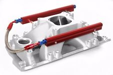 SBC Shootout Pro High Rise Aluminum EFI Fuel Injection Intake w/Fuel Rails Chevy