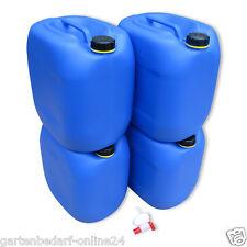 4 x 30 L Behälter Plastikeimer Kanister Wasserbehälter lebensmittelecht + Hahn.