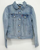 New Levis Womens 29945 0026 Blue Button Up Jean Denim Trucker Jacket Size XS