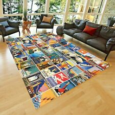 Trip Destination    Area Rug, Carpet NonSlip Floor Carpet,Teen's Carpet