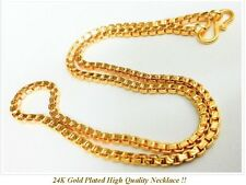 "22K 23K 24K 18"" Chain Necklace THAI BAHT INDIAN GOLD GP Jewelry"