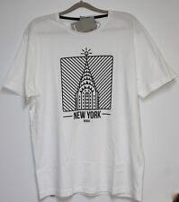 b19. Bench T-shirt avec motif taille XL blanc neuf avec étiquette
