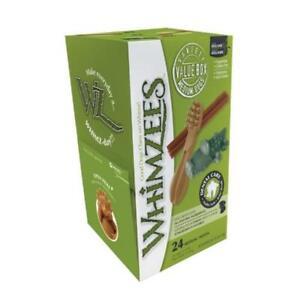 WHIMZEES Variété Boîte Moyen 24 Paquet - Chien Friandise à Mâcher Vrac Naturel