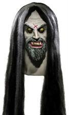 Evil Cadáver Fabricante Blanco Piel Completo Máscara de Látex con Pelo Traje
