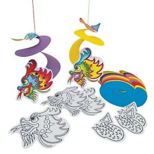 DRAGON SPIRALS hanging decoration x 30 class supplies craft bumper activity MYO