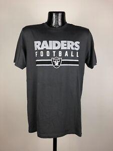Men's '47 Brand Oakland Raiders Black Graphic Logo Short-Sleeve Shirt Medium