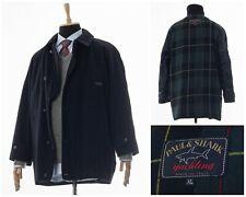 Mens PAUL & SHARK Wool Coat Jacket Navy Blue Size XL