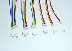 Micro JST 1.25mm Connector Plug Wire Cable Cord 100mm + pcb mount socket