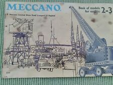 MECCANO - BOOK OF MODELS FOR OUTFITS 2 - 3 - IN ENGLISH