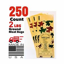 CAMO PRINT WILD GAME GROUND MEAT FREEZER CHUB BAGS 2LB 250 COUNT FREE SHIPPING
