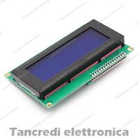 MODULO DISPLAY LCD 20X4 2004 RETROILLUMINATO SERIALE I2C (Arduino-Compatibile)