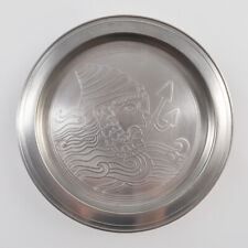 Signo Del Zodiaco Acuario Plato de Estaño / Placa Pared / Pewter Aquarius / 15cm