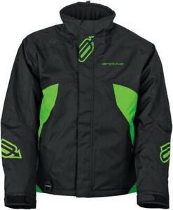New Men's Arctiva S8 Pivot Jacket ~ Black/Green~ MD ~ # 3120-1761