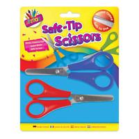 2 x  Pattern Childrens Kids Safety Scissors Arts & Craft School UK