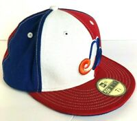 Montreal Expos Hat New Era 59FIFTY Cooperstown Collection Fitted Hat-White 7-1/8