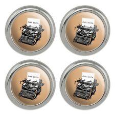 Just Write Antique Typewriter Writer Metal Craft Sewing Buttons - Set of 4
