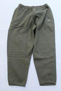 Nike Men's Essential NikeLab Fleece Drawstring Zip Pocket Pants JQ2 Brown Large