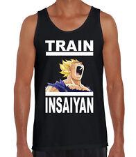 Train Insaiyan Dragon Ball Z Gym Workout Goku Anime Black Singlet New Tank Top