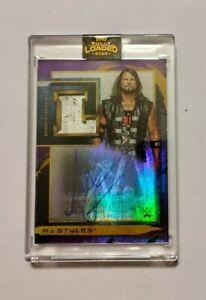 AJ Styles 2020 Topps WWE Fully Loaded Ladder Relic Autograph Purple #/25 Money