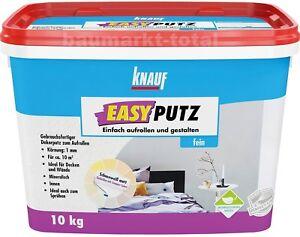 Knauf Easyputz fein 1,0mm 10kg Dekorputz Edelputz Oberputz Decorputz Wandputz