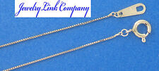 "Solid Platinum Baby Box 0.5mm Necklace 18"" 1.3grams Italian"