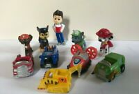 PAW PATROL MINI FIGURES TEN ASSORTED BUNDLE CHASE DOGS VEHICLES BUSY BOOK FIGURE