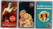 #2 Lot of 3 $5 Coca Cola Phone Cards #'d Sprint US 1995 COKE Limited Phonecards
